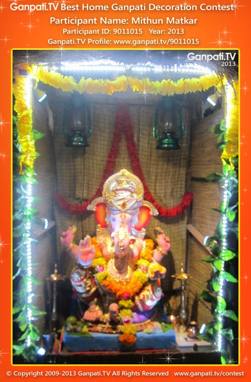 Mithun Matkar Ganpati Decoration