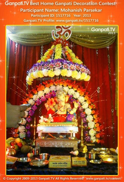 Mohanish Parsekar Ganpati Decoration