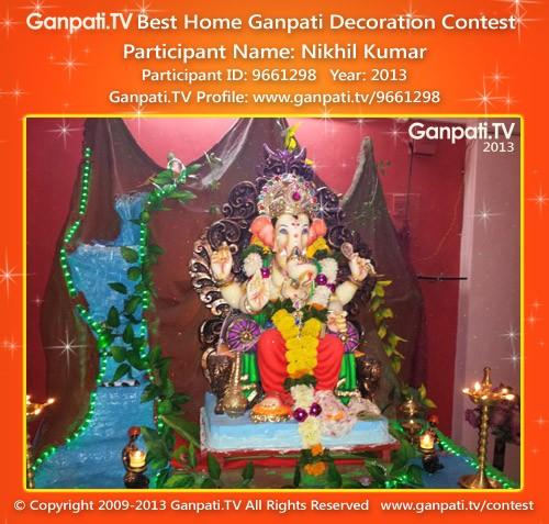Nikhil Kumar Ganpati Decoration