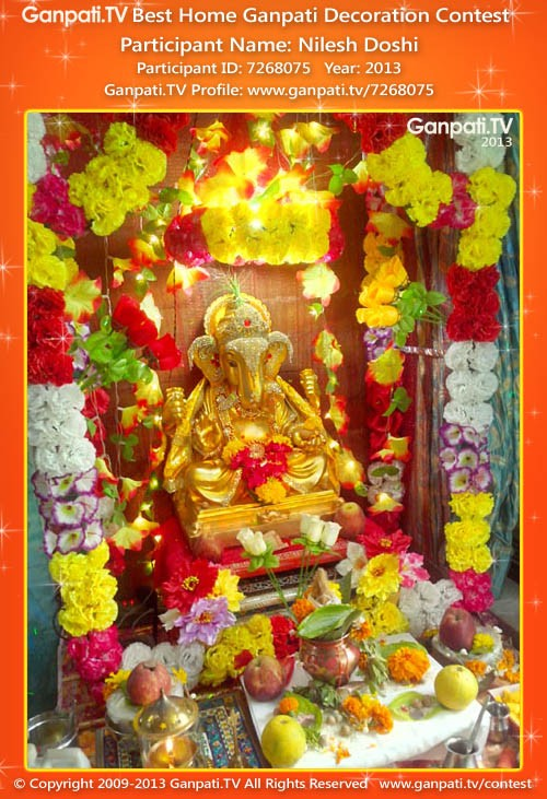 Nilesh Doshi Ganpati Decoration