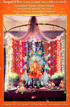 Nilesh Jiwade Home Ganpati Picture