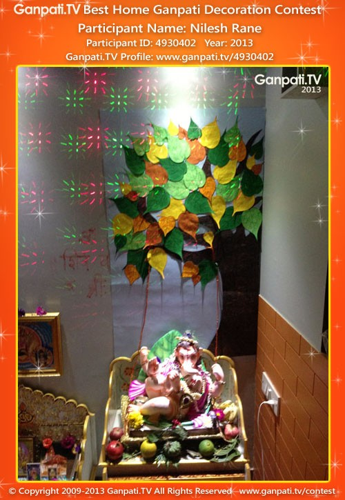 Nilesh Rane Ganpati Decoration
