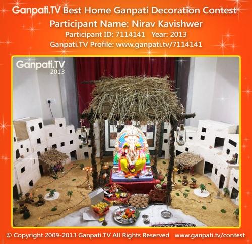 Nirav Kavishwer Ganpati Decoration