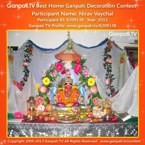 Nirav Vaychal Ganpati Decoration