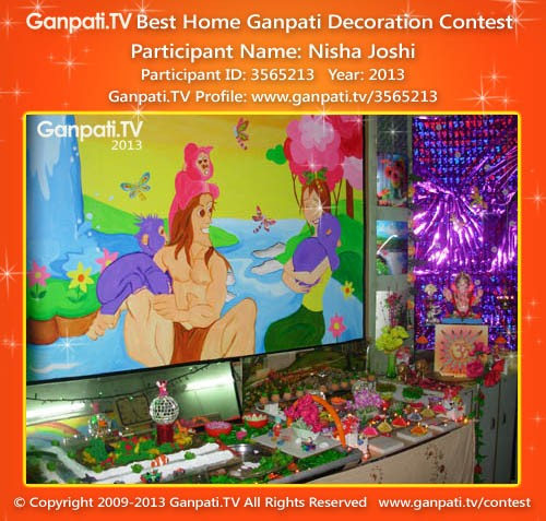 Nisha Joshi Ganpati Decoration