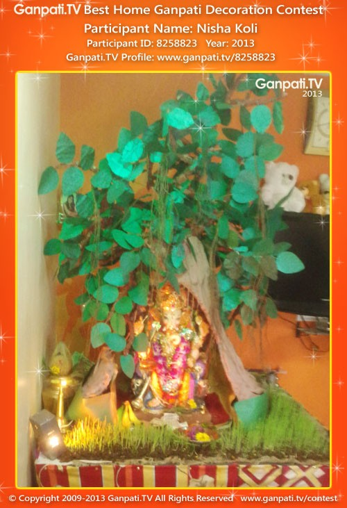 Nisha Koli Ganpati Decoration