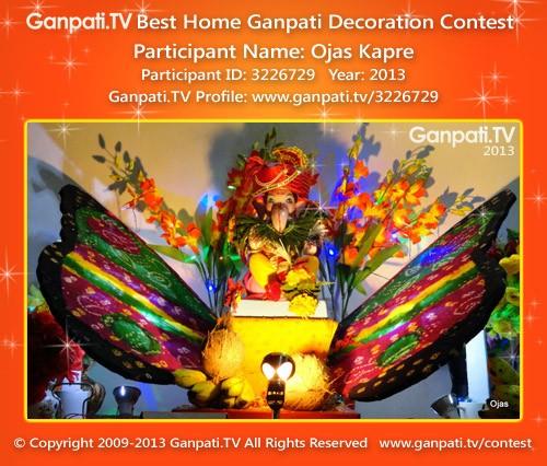Ojas Kapre Ganpati Decoration