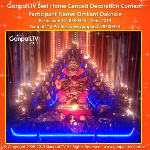 Omkant Dakhole Ganpati Decoration