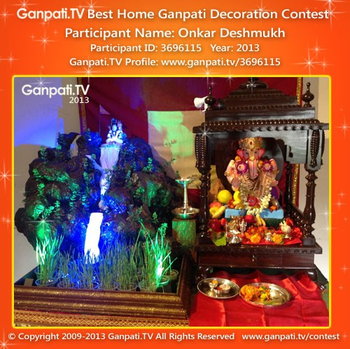 Onkar Deshmukh Ganpati Decoration