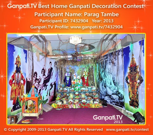 Parag Tambe Ganpati Decoration