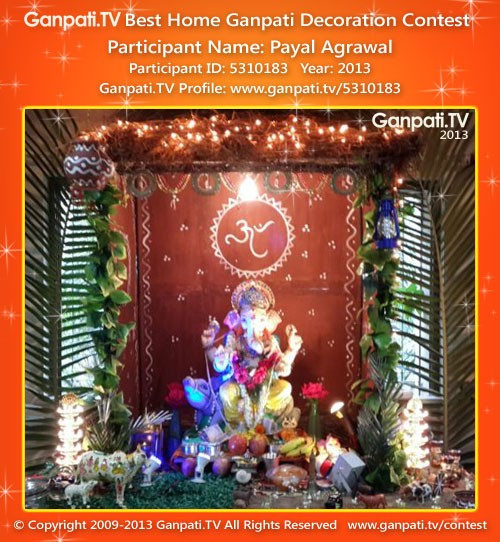 Payal Agrawal Ganpati Decoration