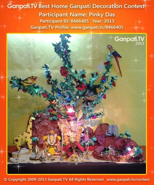 Pinky Das Ganpati Decoration