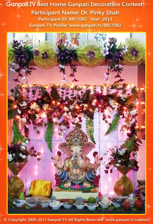 Pinky Shah Ganpati Decoration