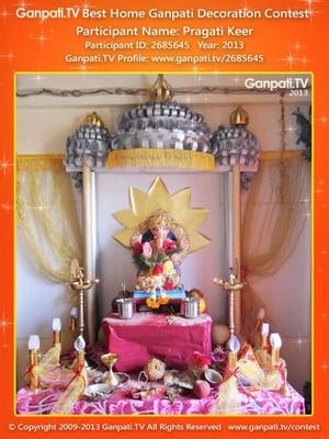 Pragati Keer Home Ganpati Picture