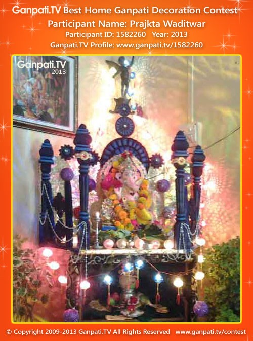 Prajkta Waditwar Ganpati Decoration