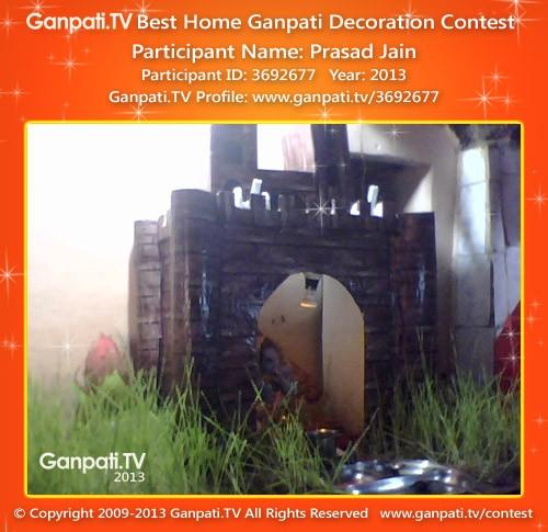 Prasad Jain Ganpati Decoration