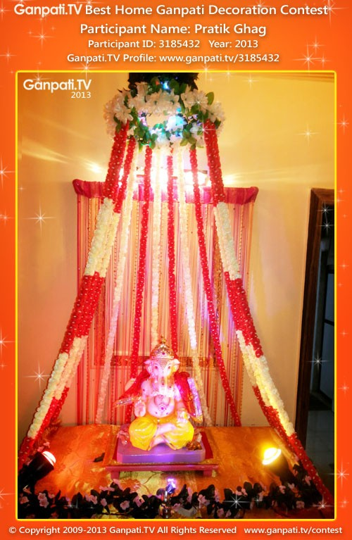 Pratik ghag ganpati tv for Artificial flower decoration for ganpati