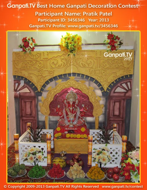 Pratik Patel Ganpati Decoration