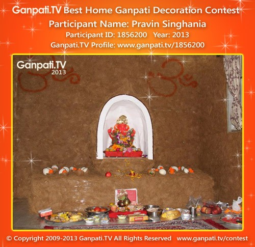 Pravin Singhania Ganpati Decoration