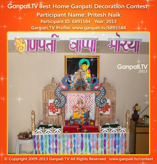 Pritesh Naik Ganpati Decoration