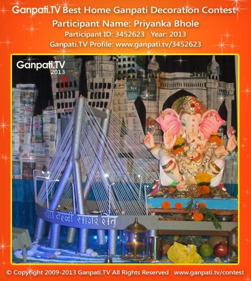 Priyanka Bhole Ganpati Decoration