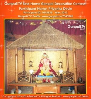 Priyanka Devle Home Ganpati