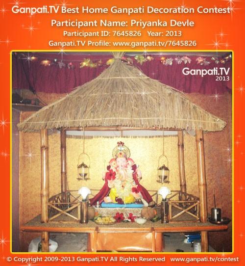 Priyanka Devle Ganpati Decoration