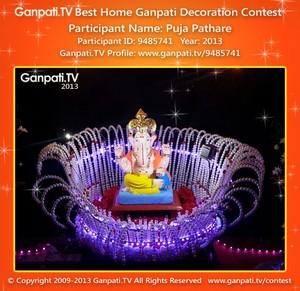 Puja Pathare Home Ganpati Picture