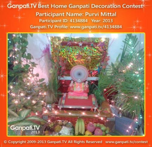 Purvi Mittal Ganpati Decoration