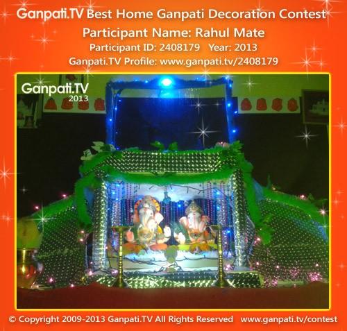 Rahul Mate Ganpati Decoration