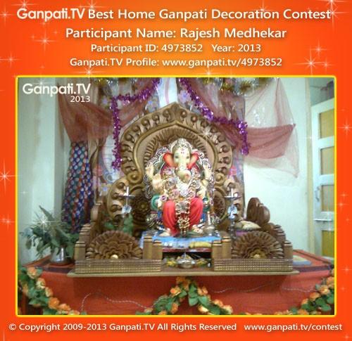 Rajesh medhekar ganpati tv for Artificial flower decoration ideas for ganpati