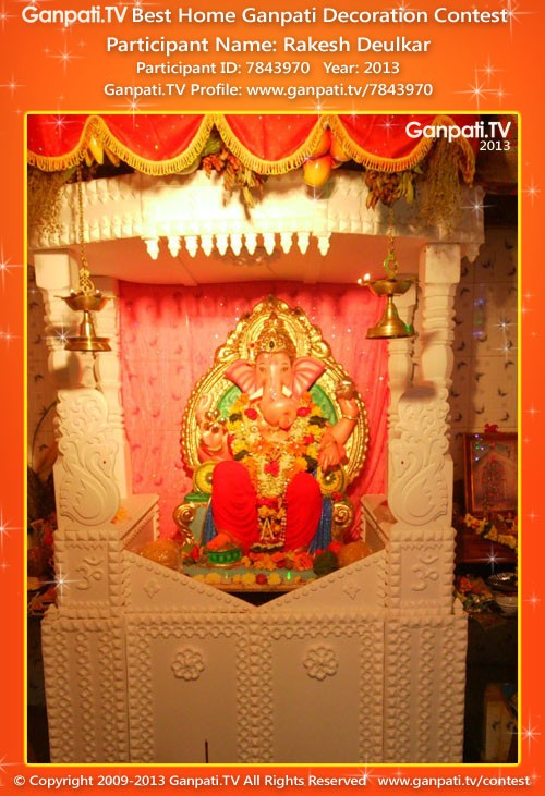 Rakesh Deulkar Ganpati Decoration