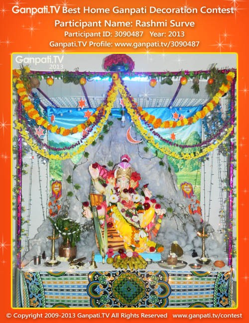 Rashmi Surve Ganpati Decoration