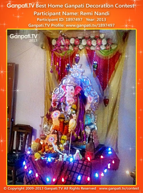 Remi Nandi Ganpati Decoration