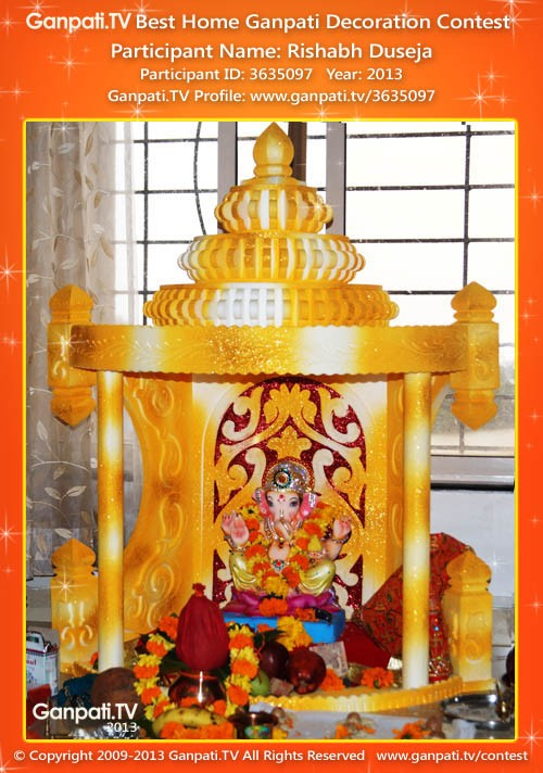 Rishabh Duseja Ganpati Decoration