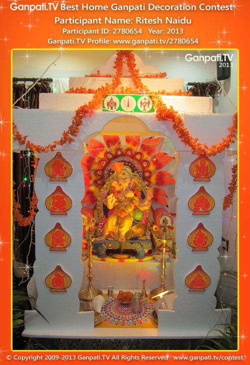 Ritesh Naidu Ganpati Decoration