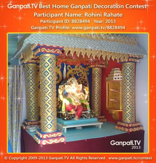 Rohini Rahate Ganpati Decoration
