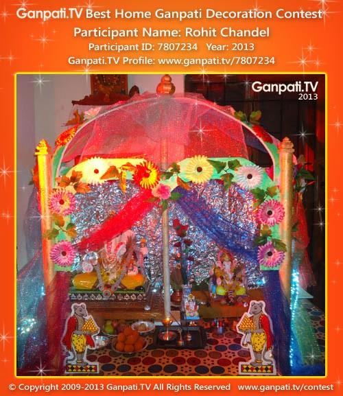 Rohit Chandel Ganpati Decoration