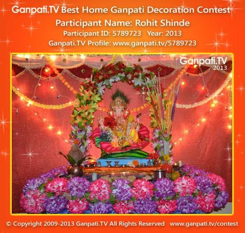 Rohit Shinde Ganpati Decoration