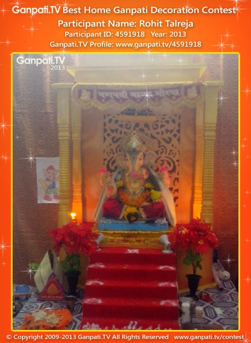 Rohit Talreja Ganpati Decoration