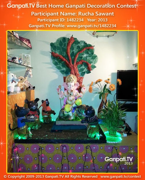 Rucha Sawant Ganpati Decoration