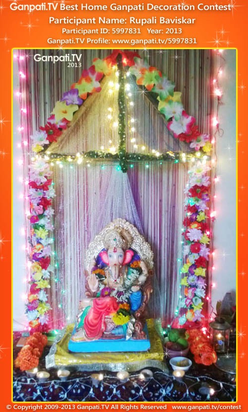 Rupali Baviskar Ganpati Decoration