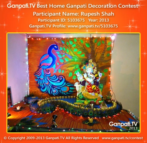 Rupesh Shah Ganpati Decoration