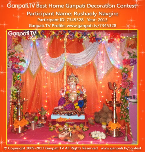 Rushaoly navgire ganpati tv for Background decoration for ganpati
