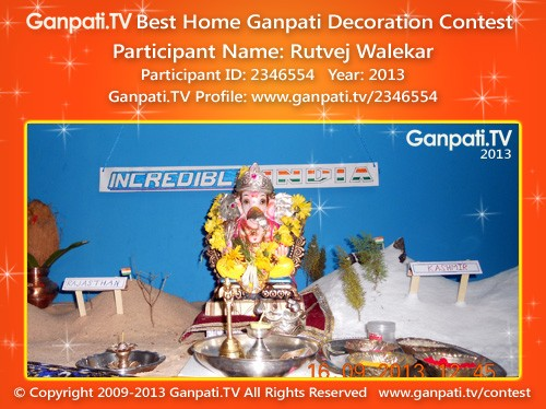 Rutvej Walekar Ganpati Decoration