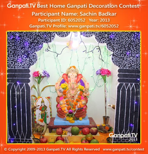 Sachin Badkar Ganpati Decoration