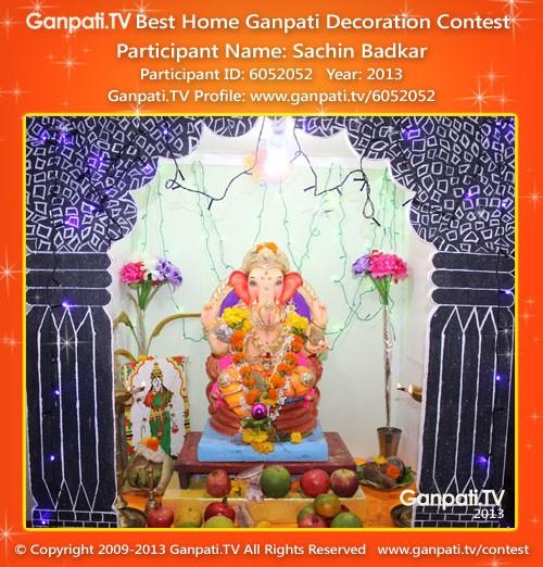 Sachin Badkar Ganpati Decoration