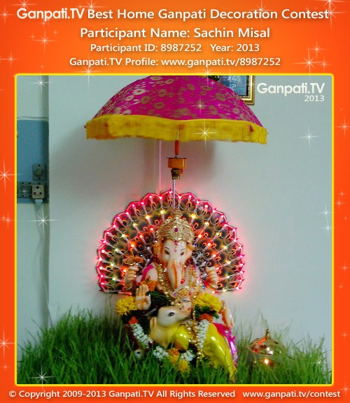 Sachin Misal Ganpati Decoration