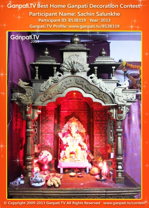Sachin salunkhe ganpati tv Ganpati decoration design for home