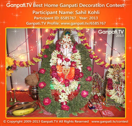 Sahil Kohli Ganpati Decoration